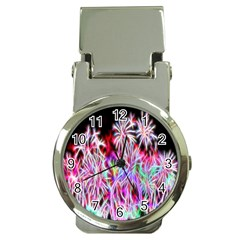 Fractal Fireworks Display Pattern Money Clip Watches