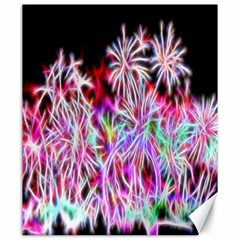 Fractal Fireworks Display Pattern Canvas 20  X 24