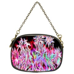 Fractal Fireworks Display Pattern Chain Purses (two Sides)