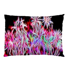Fractal Fireworks Display Pattern Pillow Case (two Sides)