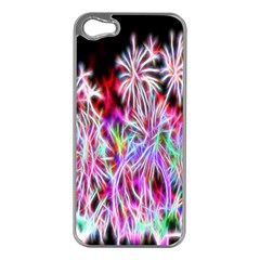 Fractal Fireworks Display Pattern Apple Iphone 5 Case (silver)