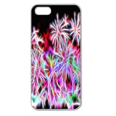 Fractal Fireworks Display Pattern Apple Seamless Iphone 5 Case (clear)