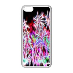 Fractal Fireworks Display Pattern Apple Iphone 5c Seamless Case (white)