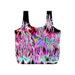 Fractal Fireworks Display Pattern Full Print Recycle Bags (s)