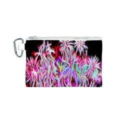Fractal Fireworks Display Pattern Canvas Cosmetic Bag (s)