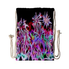 Fractal Fireworks Display Pattern Drawstring Bag (small)