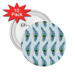 Background Of Beautiful Peacock Feathers 2 25  Buttons (10 Pack)