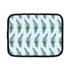 Background Of Beautiful Peacock Feathers Netbook Case (small)