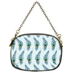 Background Of Beautiful Peacock Feathers Chain Purses (one Side)