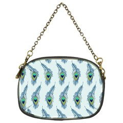Background Of Beautiful Peacock Feathers Chain Purses (two Sides)