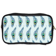 Background Of Beautiful Peacock Feathers Toiletries Bags 2 Side