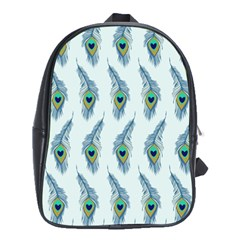 Background Of Beautiful Peacock Feathers School Bags (xl)