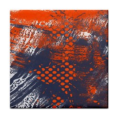 Dark Blue Red And White Messy Background Tile Coasters