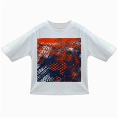 Dark Blue Red And White Messy Background Infant/toddler T Shirts