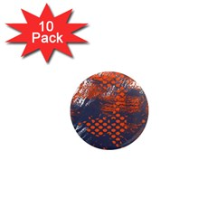 Dark Blue Red And White Messy Background 1  Mini Magnet (10 Pack)