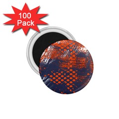 Dark Blue Red And White Messy Background 1 75  Magnets (100 Pack)