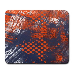 Dark Blue Red And White Messy Background Large Mousepads