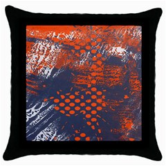Dark Blue Red And White Messy Background Throw Pillow Case (black)