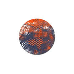 Dark Blue Red And White Messy Background Golf Ball Marker (4 Pack)