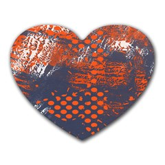 Dark Blue Red And White Messy Background Heart Mousepads