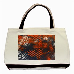 Dark Blue Red And White Messy Background Basic Tote Bag (two Sides)