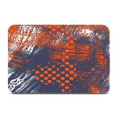 Dark Blue Red And White Messy Background Plate Mats