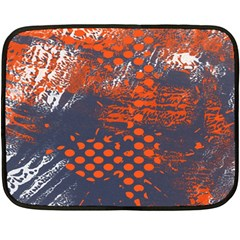 Dark Blue Red And White Messy Background Double Sided Fleece Blanket (mini)