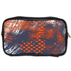 Dark Blue Red And White Messy Background Toiletries Bags