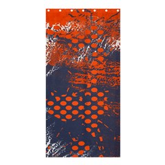 Dark Blue Red And White Messy Background Shower Curtain 36  X 72  (stall)