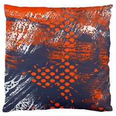 Dark Blue Red And White Messy Background Large Cushion Case (one Side)