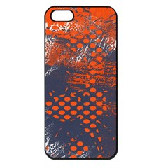 Dark Blue Red And White Messy Background Apple Iphone 5 Seamless Case (black)