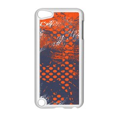 Dark Blue Red And White Messy Background Apple Ipod Touch 5 Case (white)