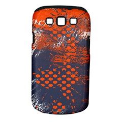 Dark Blue Red And White Messy Background Samsung Galaxy S Iii Classic Hardshell Case (pc+silicone)