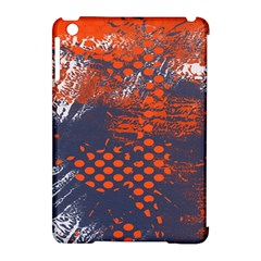 Dark Blue Red And White Messy Background Apple Ipad Mini Hardshell Case (compatible With Smart Cover)
