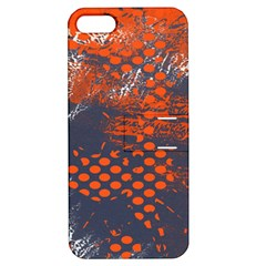 Dark Blue Red And White Messy Background Apple Iphone 5 Hardshell Case With Stand