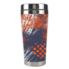 Dark Blue Red And White Messy Background Stainless Steel Travel Tumblers