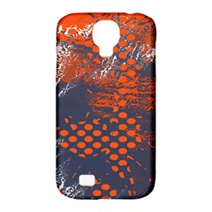 Dark Blue Red And White Messy Background Samsung Galaxy S4 Classic Hardshell Case (pc+silicone)