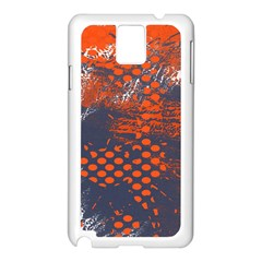 Dark Blue Red And White Messy Background Samsung Galaxy Note 3 N9005 Case (white)