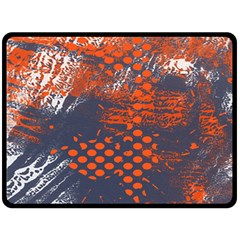 Dark Blue Red And White Messy Background Double Sided Fleece Blanket (large)