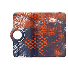 Dark Blue Red And White Messy Background Kindle Fire Hdx 8 9  Flip 360 Case