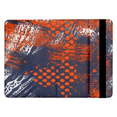 Dark Blue Red And White Messy Background Samsung Galaxy Tab Pro 12 2  Flip Case