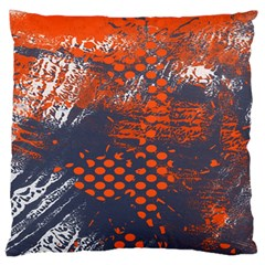 Dark Blue Red And White Messy Background Large Flano Cushion Case (one Side)