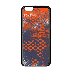 Dark Blue Red And White Messy Background Apple Iphone 6/6s Black Enamel Case