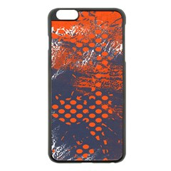 Dark Blue Red And White Messy Background Apple Iphone 6 Plus/6s Plus Black Enamel Case
