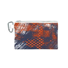Dark Blue Red And White Messy Background Canvas Cosmetic Bag (s)