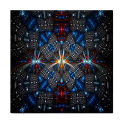 Fancy Fractal Pattern Background Accented With Pretty Colors Tile Coasters