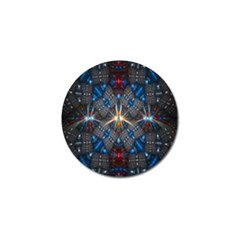 Fancy Fractal Pattern Background Accented With Pretty Colors Golf Ball Marker (4 Pack)