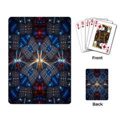 Fancy Fractal Pattern Background Accented With Pretty Colors Playing Card