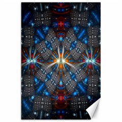 Fancy Fractal Pattern Background Accented With Pretty Colors Canvas 20  X 30