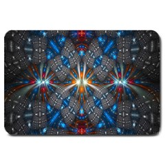 Fancy Fractal Pattern Background Accented With Pretty Colors Large Doormat